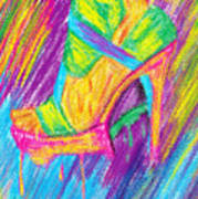 Funky Stilettos Impression Art Print