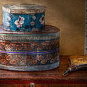 Furniture - Hat Boxes With Billow Art Print