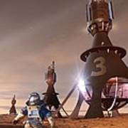 Future Mars Exploration, Artwork Art Print