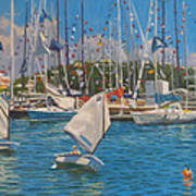 Future Yacht Racers Art Print