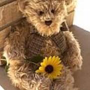 Fuzzy Teddy Art Print