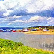 Gabarus Cape Breton Nova Scotia Fishing Village Art Print