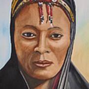 Gabbra Woman In Black  Art Print