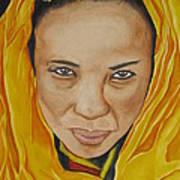 Gabbra Woman In Yellow Art Print