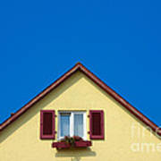 Gable Of Beautiful House In Front Of Blue Sky Art Print