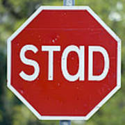 Gaelic Stop Sign Near Doocharry Art Print by Rich Reid