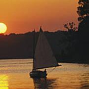 Gaff-rigged Catboat Sails Art Print