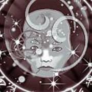 Galactic Face Art Print