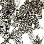 Galactic Warriors Art Print