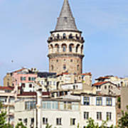 Galata Tower In Istanbul Art Print
