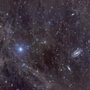 Galaxies M81 And M82 As Seen Art Print by John Davis