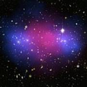 Galaxy Cluster Collision, X-ray Image Art Print by Nasaesacxcstscim. Bradac And S. Allen