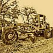 Galion Road Grader V2 Art Print