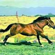Gallope Art Print