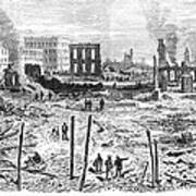 Galveston: Fire, 1877 Art Print