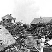 Galveston Flood Debris - September - 1900 Art Print by International  Images