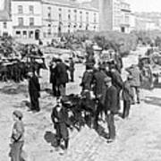 Galway Ireland - The Market At Eyre Square - C 1901 Art Print
