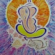 Ganesh Vandan Art Print