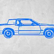 Gangster Car Print by Naxart Studio