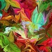 Garden Abstract 072312 Art Print