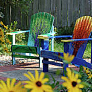 Garden Chairs Art Print