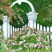 Garden Circle Gate Art Print