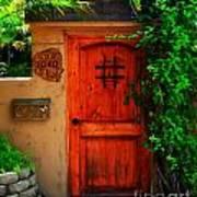 Garden Doorway Art Print by Perry Webster
