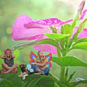 Garden Fairy Friends Art Print