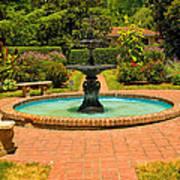 Garden Fountain 03 Art Print