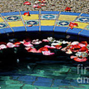 Garden Fountain Art Print