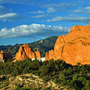 Garden Of The Gods Front Side View Art Print