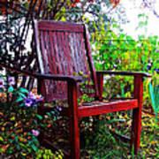 Garden Seating Art Print