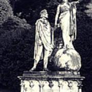 Garden Statue At Villa Capri Art Print