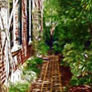 Garden Walkway Art Print