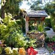 Garden Wishing Well Art Print
