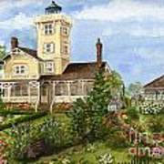 Gardens At Hereford Inlet Lighthouse  Art Print