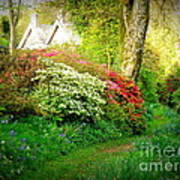 Gardens Of The Old Rectory Art Print