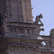 Gargoyles At Notre Dame Cathedral Art Print