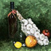 Garlic And The Apples Art Print