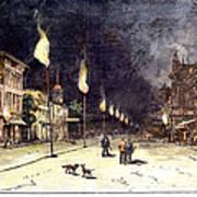 Gas Lights, 1885 Art Print