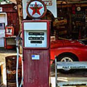 Gas Pump - Texaco Gas Globe Art Print