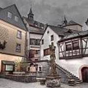 Gasthaus And Church-colour Art Print