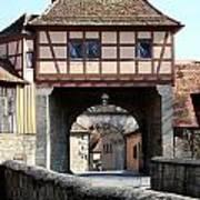 Gate House - Rothenburg Art Print