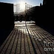 Gate In Backlight Art Print