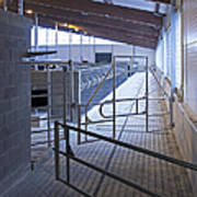 Gated Railing In A Cowshed Art Print