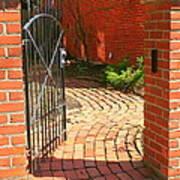 Gateway To A Garden Art Print