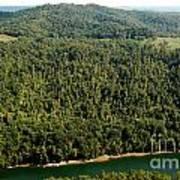 Gauley River Aerial View Art Print