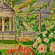 Gazebo Art Print by Jame Hayes