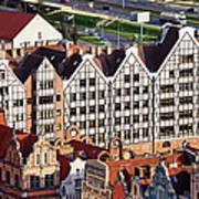 Gdansk Granaries Art Print