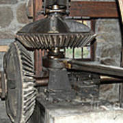 Gears Of The Old Grist Mill Art Print